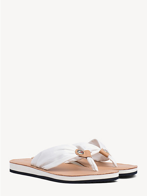 TOMMY HILFIGER Cotton Flip-Flops - WHISPER WHITE - TOMMY HILFIGER Sandals - main image