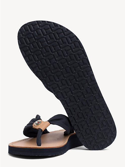 TOMMY HILFIGER Cotton Flip-Flops - MIDNIGHT - TOMMY HILFIGER Best Sellers - detail image 1