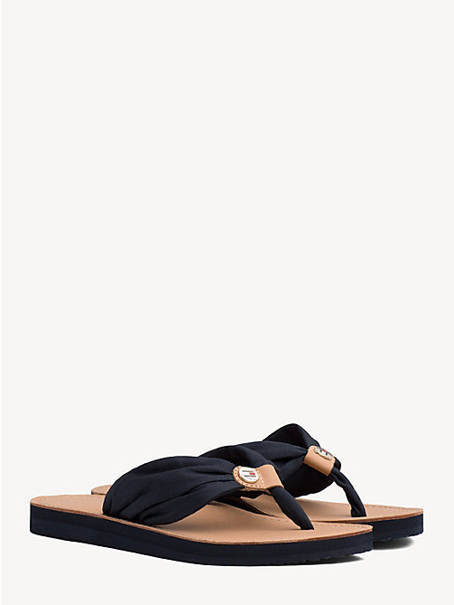TOMMY HILFIGER Cotton Flip-Flops - MIDNIGHT - TOMMY HILFIGER Best Sellers - main image