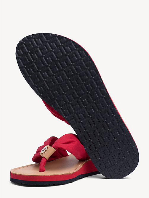 TOMMY HILFIGER Cotton Flip-Flops - TANGO RED - TOMMY HILFIGER Sandals - detail image 1