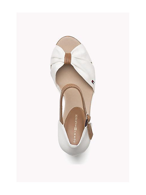 TOMMY HILFIGER Iconic Elena Sandals - WHISPER WHITE - TOMMY HILFIGER Heeled Sandals - detail image 1