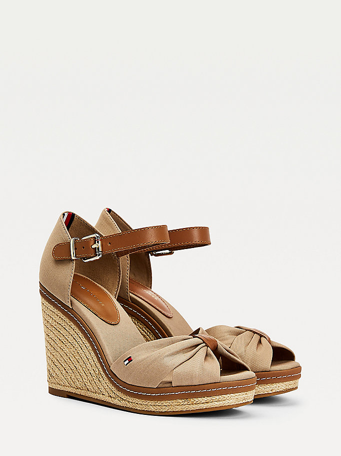 7182993cdaf Iconic Espadrille Wedge Sandals | COBBLESTONE | Tommy Hilfiger