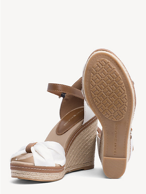 TOMMY HILFIGER Iconic Elena Sandals - WHISPER WHITE - TOMMY HILFIGER Wedges - detail image 1