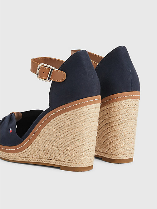 TOMMY HILFIGER Iconic Elena Sandals - MIDNIGHT - TOMMY HILFIGER Wedges - detail image 1
