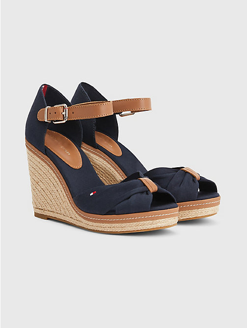 TOMMY HILFIGER Iconic Elena Sandals - MIDNIGHT - TOMMY HILFIGER Wedges - main image