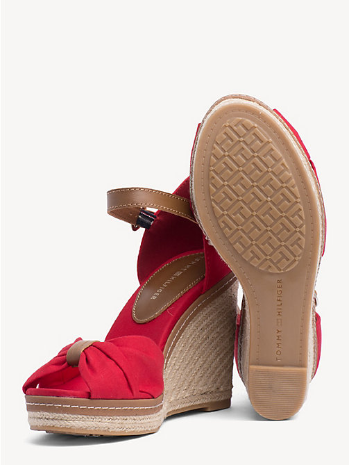TOMMY HILFIGER Iconic Elena Sandals - TANGO RED - TOMMY HILFIGER Wedges - detail image 1