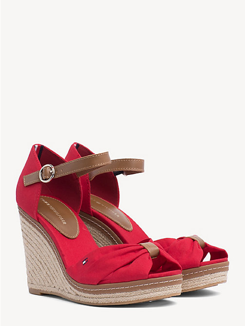 TOMMY HILFIGER Iconic Elena Sandals - TANGO RED - TOMMY HILFIGER Wedges - main image