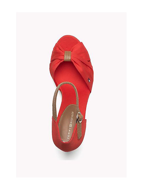 TOMMY HILFIGER Iconic Elena Sandals - FIERY RED - TOMMY HILFIGER Heeled Sandals - detail image 1