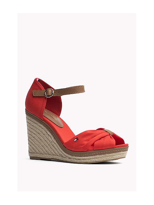 TOMMY HILFIGER Iconic Elena Sandals - FIERY RED - TOMMY HILFIGER Heeled Sandals - main image