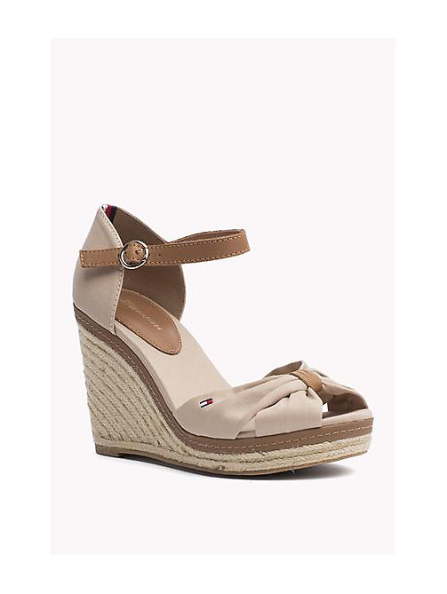 TOMMY HILFIGER Iconic Elena Sandals - DESERT SAND - TOMMY HILFIGER Heeled Sandals - main image