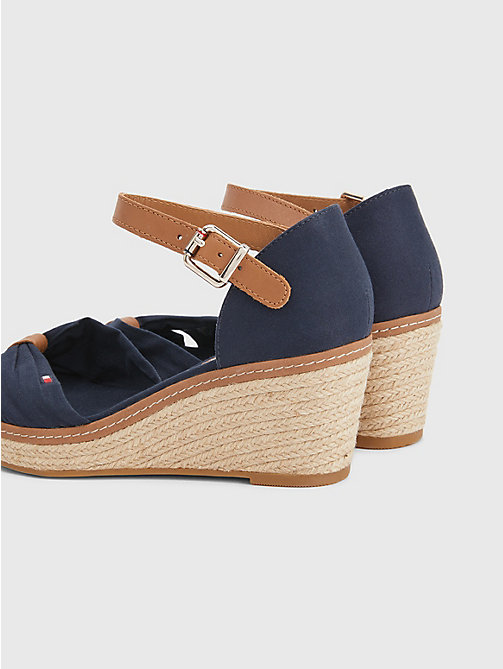 TOMMY HILFIGER Iconic Elba Sandals - MIDNIGHT - TOMMY HILFIGER Wedges - detail image 1
