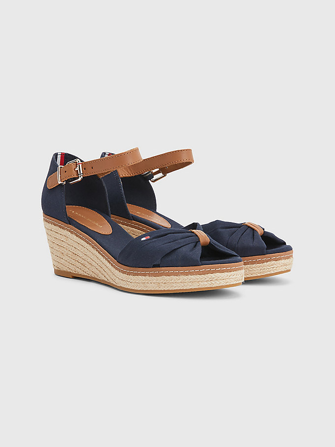 blue iconic wedge espadrilles for women tommy hilfiger