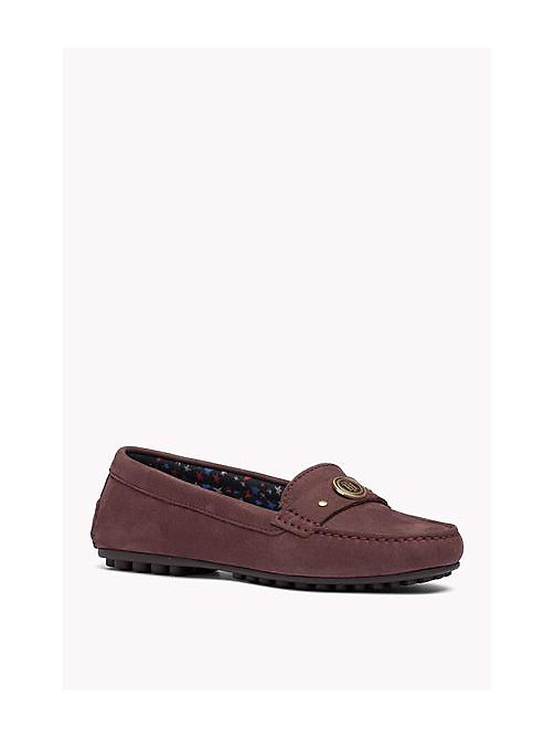 TOMMY HILFIGER Nubuck Loafers - DECADENT CHOCOLATE - TOMMY HILFIGER Shoes - main image