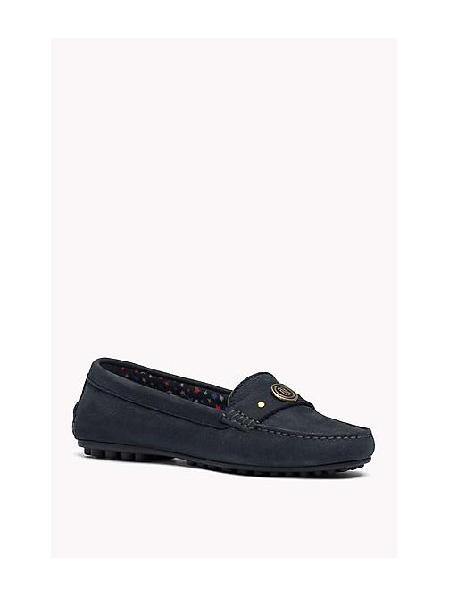 TOMMY HILFIGER Nubuck Loafers - MIDNIGHT - TOMMY HILFIGER Shoes - main image