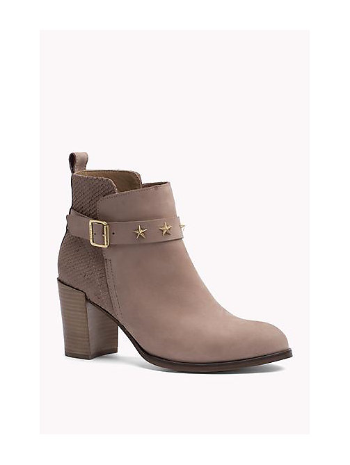 TOMMY HILFIGER Suede Ankle Boot - BURNT STONE - TOMMY HILFIGER Shoes - main image