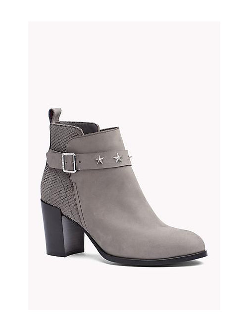 TOMMY HILFIGER Suede Ankle Boot - URBAN GREY - TOMMY HILFIGER Shoes - main image