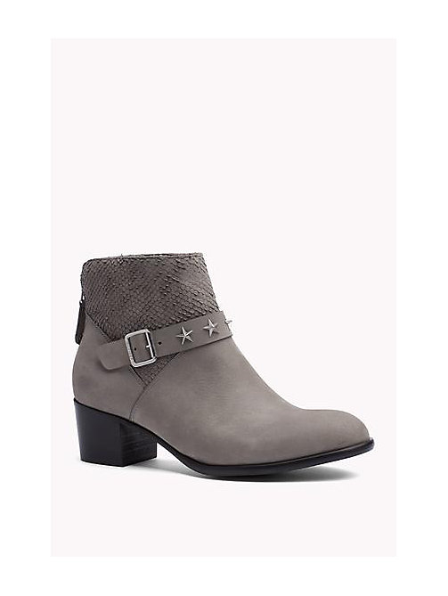 Suede Ankle Boot - URBAN GREY - TOMMY HILFIGER Shoes - main image
