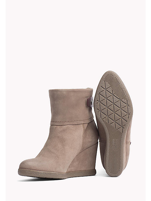 TOMMY JEANS Wedge Ankle Boot - TAUPE GREY - TOMMY JEANS Shoes - detail image 1