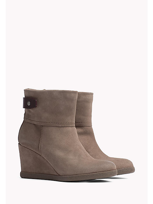 TOMMY JEANS Wedge Ankle Boot - TAUPE GREY - TOMMY JEANS Shoes - main image