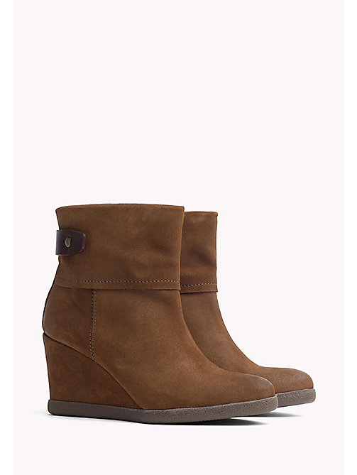 TOMMY JEANS Wedge Ankle Boot - WINTER COGNAC - TOMMY JEANS Shoes - main image