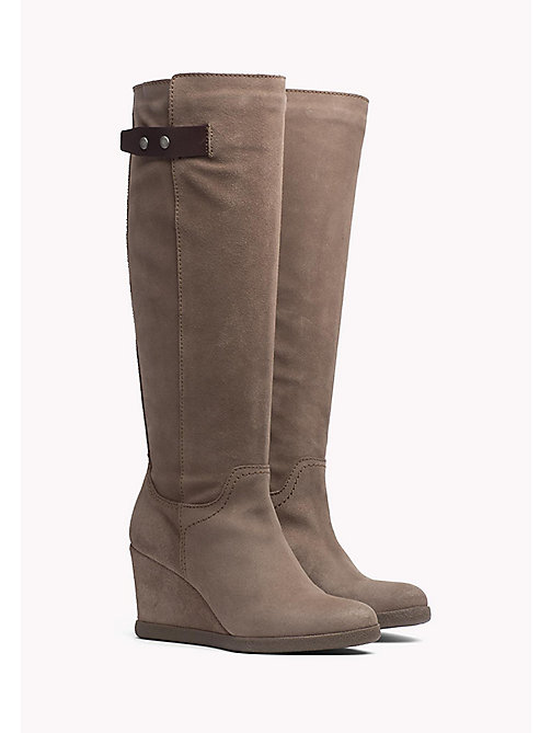 TOMMY JEANS Wedge Boot - TAUPE GREY - TOMMY JEANS Shoes - main image