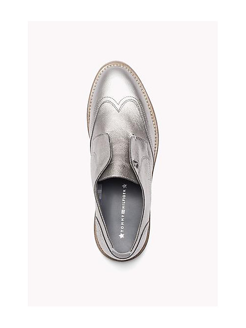 TOMMY HILFIGER Metallic Leather loafers - DARK SILVER - TOMMY HILFIGER Shoes - detail image 1