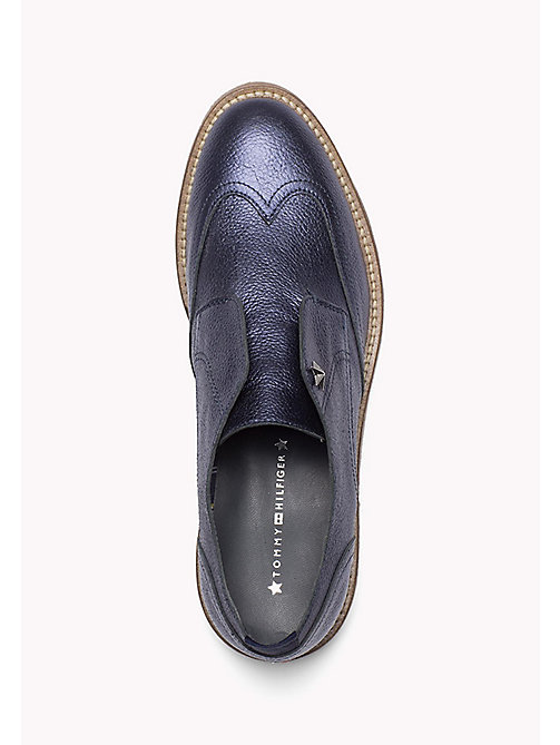 TOMMY HILFIGER Metallic Leather loafers - MIDNIGHT - TOMMY HILFIGER Shoes - detail image 1