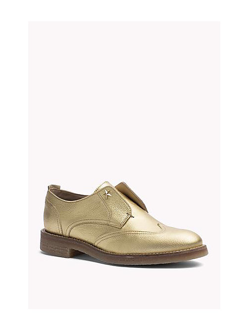 TOMMY HILFIGER Mocassini in pelle metallica - LIGHT GOLD - TOMMY HILFIGER Scarpe - immagine principale