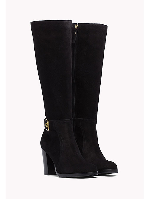 TOMMY HILFIGER Suede Boot - BLACK - TOMMY HILFIGER Women - main image