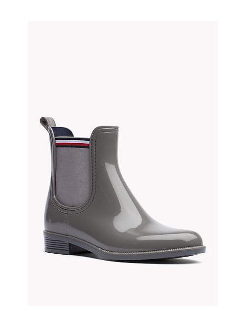 TOMMY HILFIGER Glossy Rubber Boot - URBAN GREY - TOMMY HILFIGER Shoes - main image