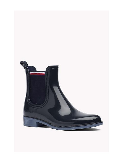 TOMMY HILFIGER Glossy Rubber Boot - MIDNIGHT - TOMMY HILFIGER Shoes - main image