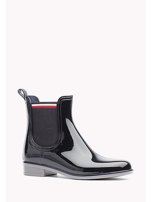 TOMMY HILFIGER Glossy Rubber Boot - BLACK - TOMMY HILFIGER Shoes - main image