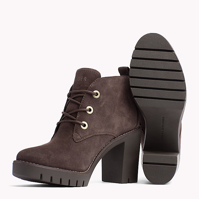 TOMMY HILFIGER Suede Ankle Boot - BLACK - TOMMY HILFIGER Shoes - detail image 1