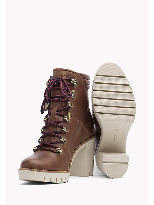 TOMMY HILFIGER Leather Ankle Boot - WINTER COGNAC - TOMMY HILFIGER Shoes - detail image 1
