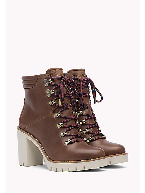 TOMMY HILFIGER Leather Ankle Boot - WINTER COGNAC - TOMMY HILFIGER Shoes - main image