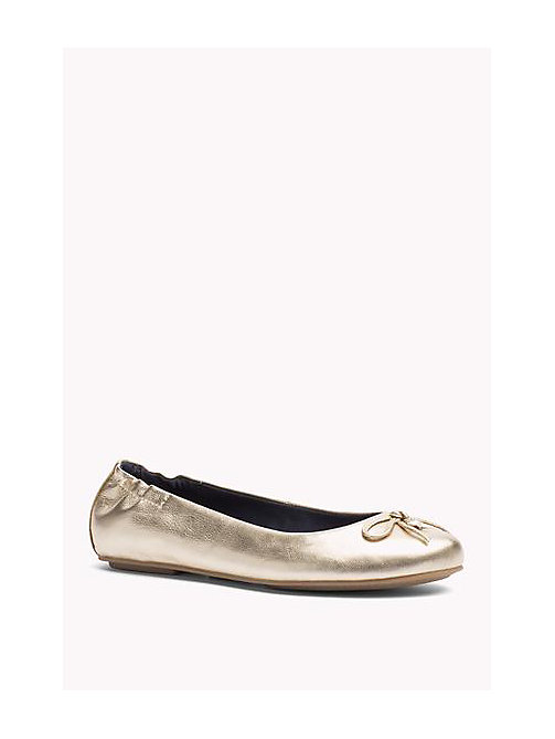 TOMMY HILFIGER Metallic Leather Ballerina - MEKONG - TOMMY HILFIGER Shoes - main image