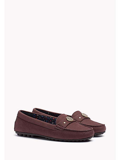 TOMMY HILFIGER Suede Moccasin - DECADENT CHOCOLATE - TOMMY HILFIGER Shoes - main image