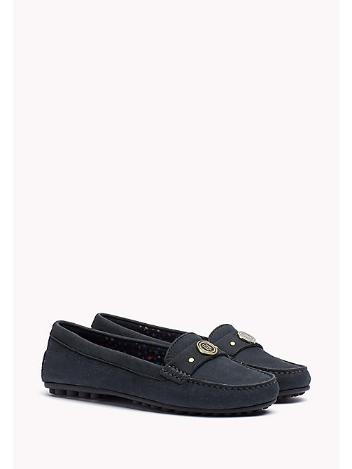 TOMMY HILFIGER Suede Moccasin - MIDNIGHT - TOMMY HILFIGER Shoes - main image