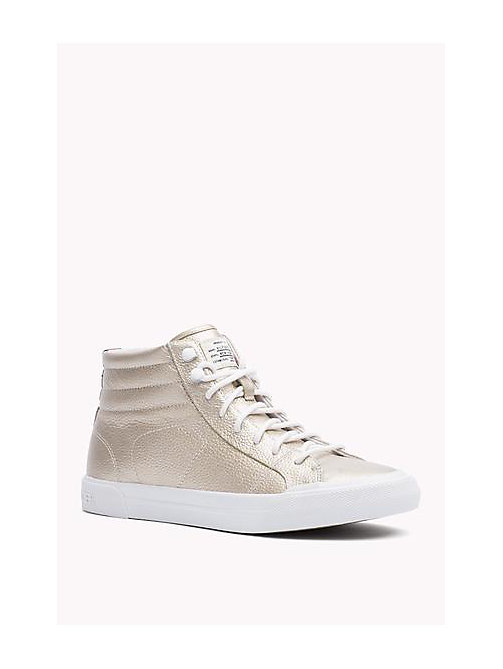 TOMMY HILFIGER Stivaletto in pelle metallica - LIGHT GOLD - TOMMY HILFIGER Scarpe - immagine principale