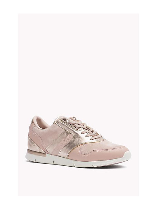 TOMMY HILFIGER Metallic Detail Suede Sneaker - DUSTY ROSE - TOMMY HILFIGER Shoes - main image