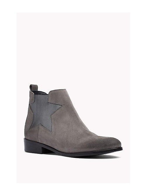 TOMMY HILFIGER Leather Ankle Boot - URBAN GREY - TOMMY HILFIGER Shoes - main image