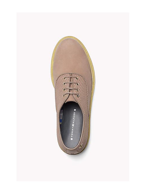 TOMMY HILFIGER Leather Lace-Up Shoe - DARK TAUPE - TOMMY HILFIGER Shoes - detail image 1