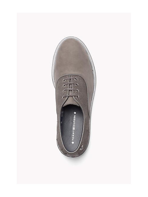 TOMMY HILFIGER Leather Lace-Up Shoe - URBAN GREY - TOMMY HILFIGER Shoes - detail image 1
