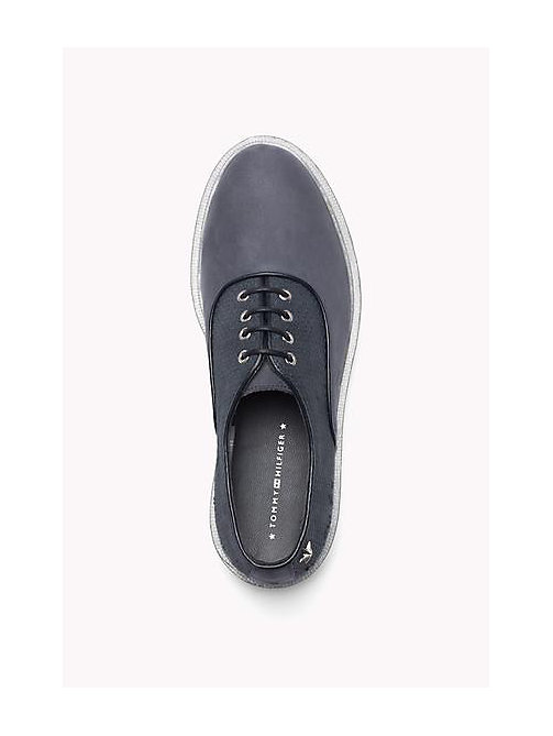 TOMMY HILFIGER Leather Lace-Up Shoe - MIDNIGHT - TOMMY HILFIGER Shoes - detail image 1