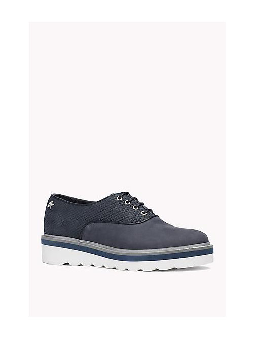 TOMMY HILFIGER Leather Lace-Up Shoe - MIDNIGHT - TOMMY HILFIGER Shoes - main image