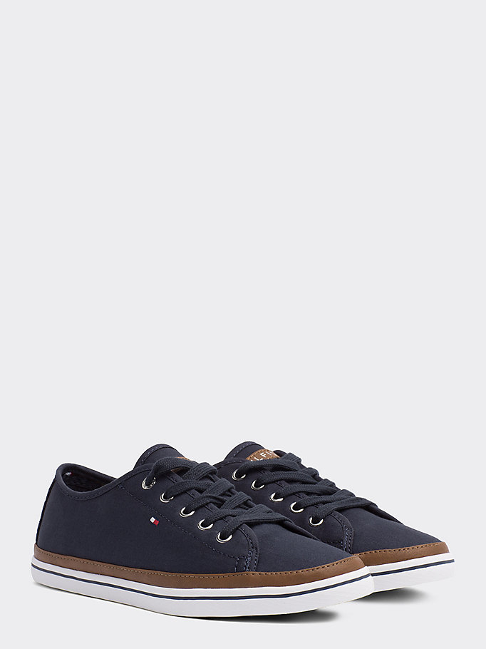 TOMMY HILFIGER Canvas Sneaker - WHISPER WHITE - TOMMY HILFIGER Women - main image