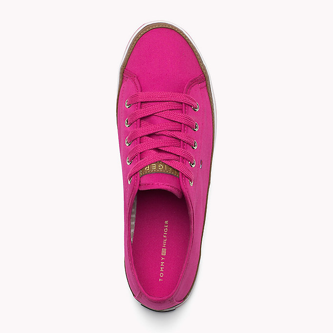 TOMMY HILFIGER Canvas Sneaker - DUSTY ROSE - TOMMY HILFIGER Women - detail image 1