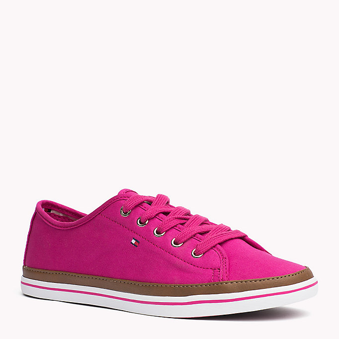 TOMMY HILFIGER Canvas Sneaker - DUSTY ROSE - TOMMY HILFIGER Women - main image