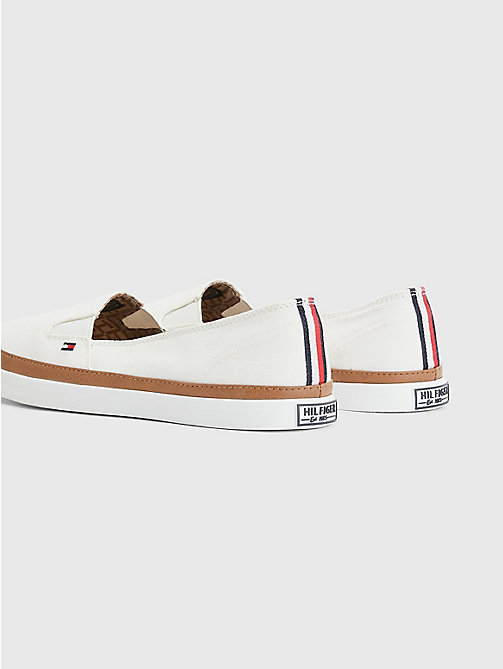 TOMMY HILFIGER Contrast Trim Slip-On Trainers - WHISPER WHITE - TOMMY HILFIGER Best Sellers - detail image 1