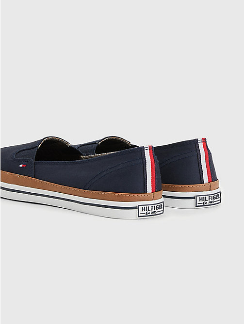 TOMMY HILFIGER Contrast Trim Slip-On Trainers - MIDNIGHT - TOMMY HILFIGER Best Sellers - detail image 1